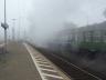 01 118 verschwindet in Dampf und Nebel