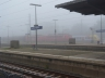 Bahnhof Frankfurt-Höchst im Nebel