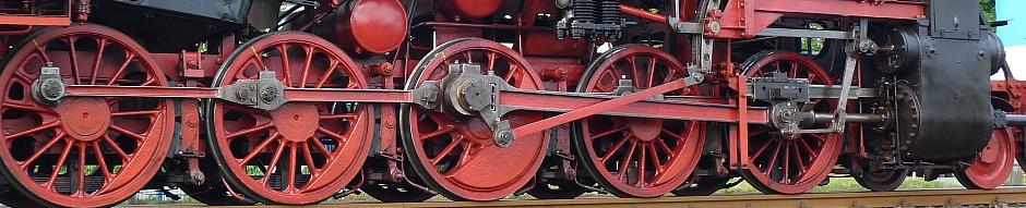 Triebwerk der Dampflokomotive 52 4867