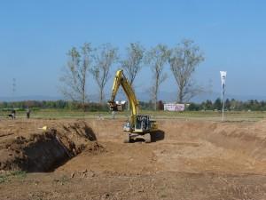 Erste Baugrube des Projekts Blumenwiese Unterliederbach