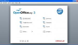 OpenOffice.org - das Startbild