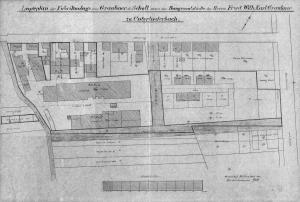Lageplan der Lederfabrik Graubner + Scholl in Unterliederbach