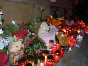 Zur Mahnung an den Tod eines fünfjährigen Jungen
