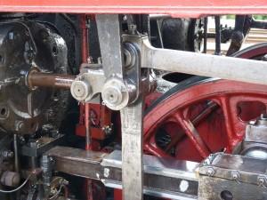 Detailaufnahme des Triebwerks der Dampflokomotive 52 4867