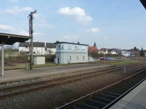 Altes Stellwerk im Bahnhof Stockheim (Glauburg)