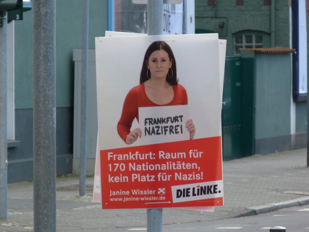 Janine Wissler, gegen Nazis und für soziale Gerechtigkeit