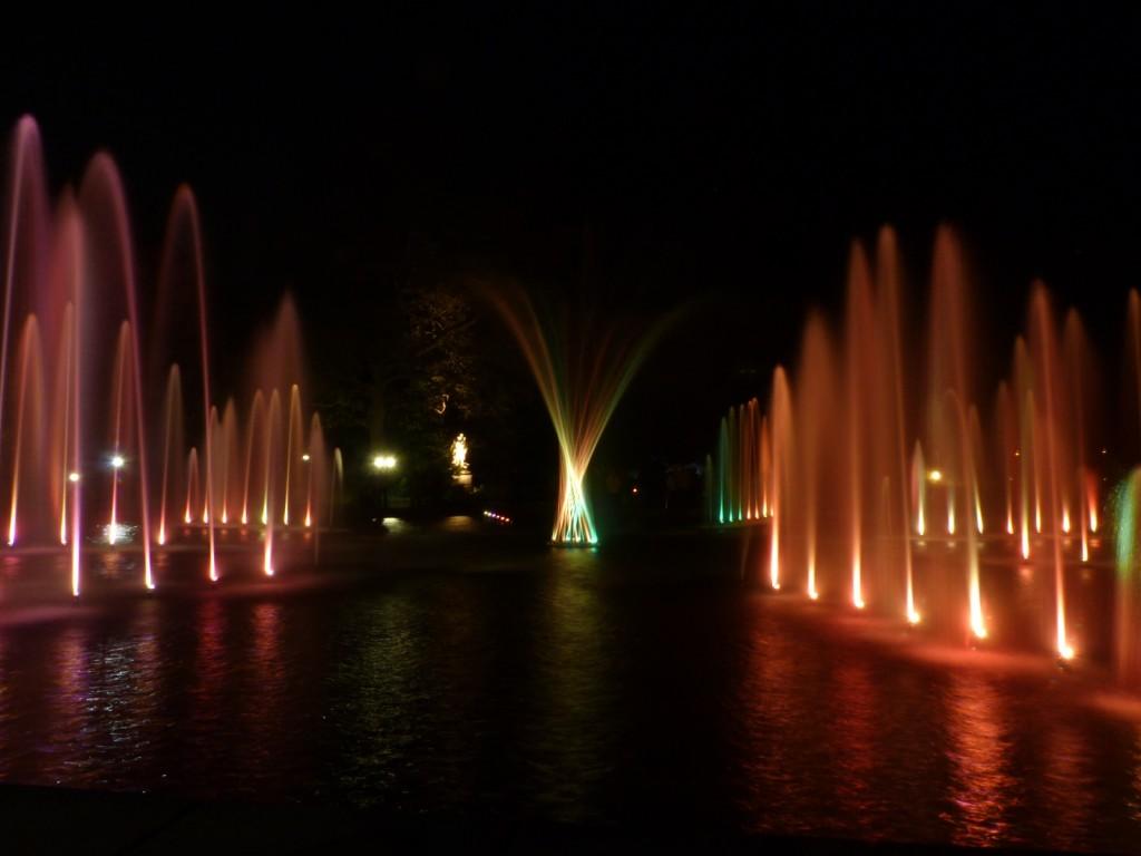 Luminale 2012: Wasserspiele im Frankfurter Palmengarten