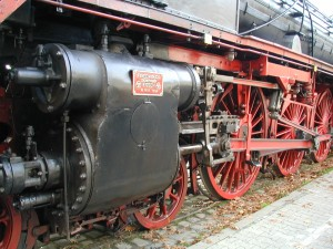 Schnellzuglokomotive BR 01 118 - linke Triebwerkseite