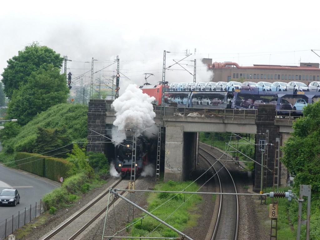 01 118 auf dem Weg nach Kulmbach und Neuenmarkt-Wirsberg