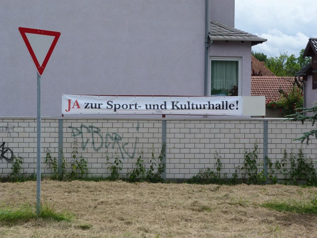 Ja zur Sport- und Kulturhalle in Frankfurt am Main Unterliederbach