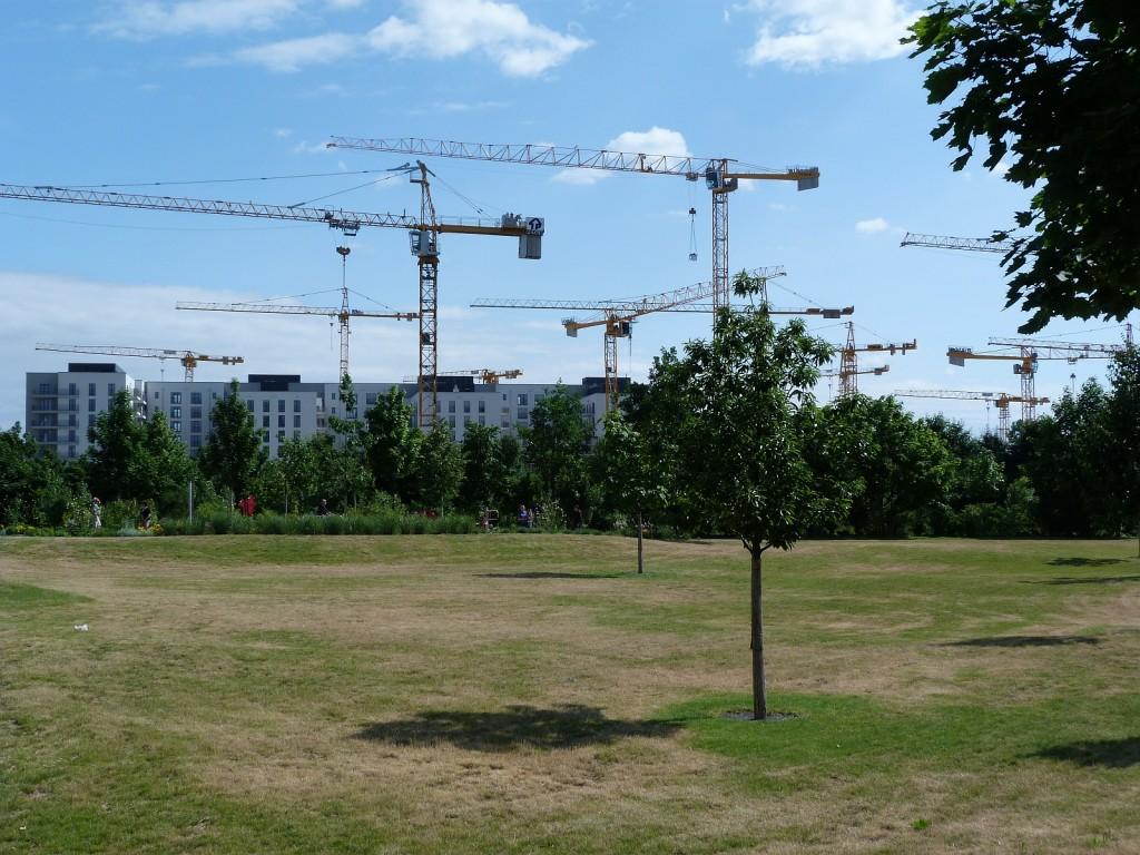Kräne und Parks in Frankfurt am Main