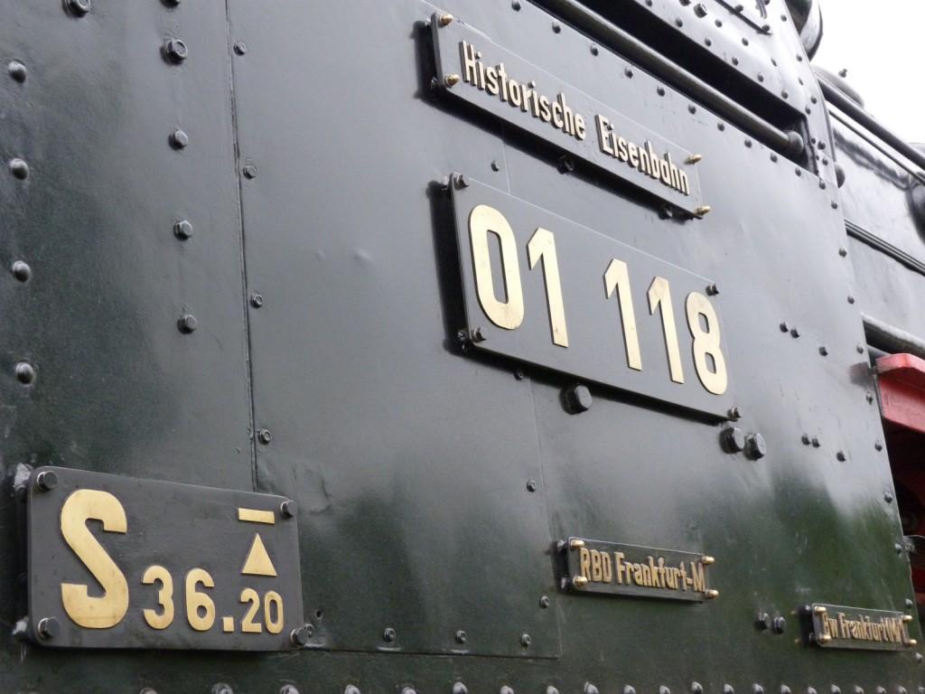 01 118 der Historichen Eisenbahn Frankfurt e.V. (HE)