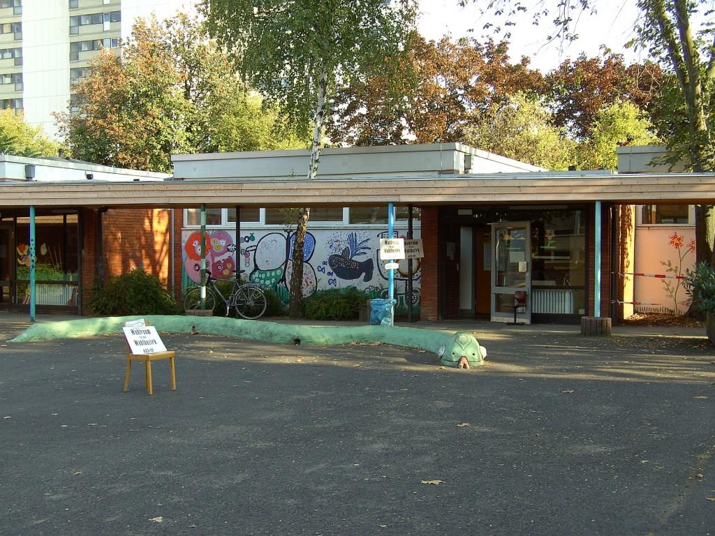 Eines der Unterliederbacher Wahllokale 2009