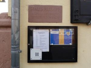 Haus Rumpf in Frankfurt am Main. Hier ist das Unterliederbacher Heimatmuseum untergebracht.
