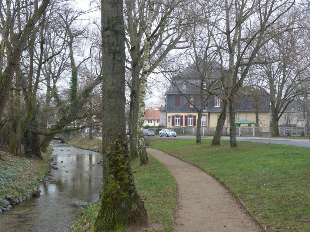 Liederbach und Villa Graubner an der Liederbacher Straße