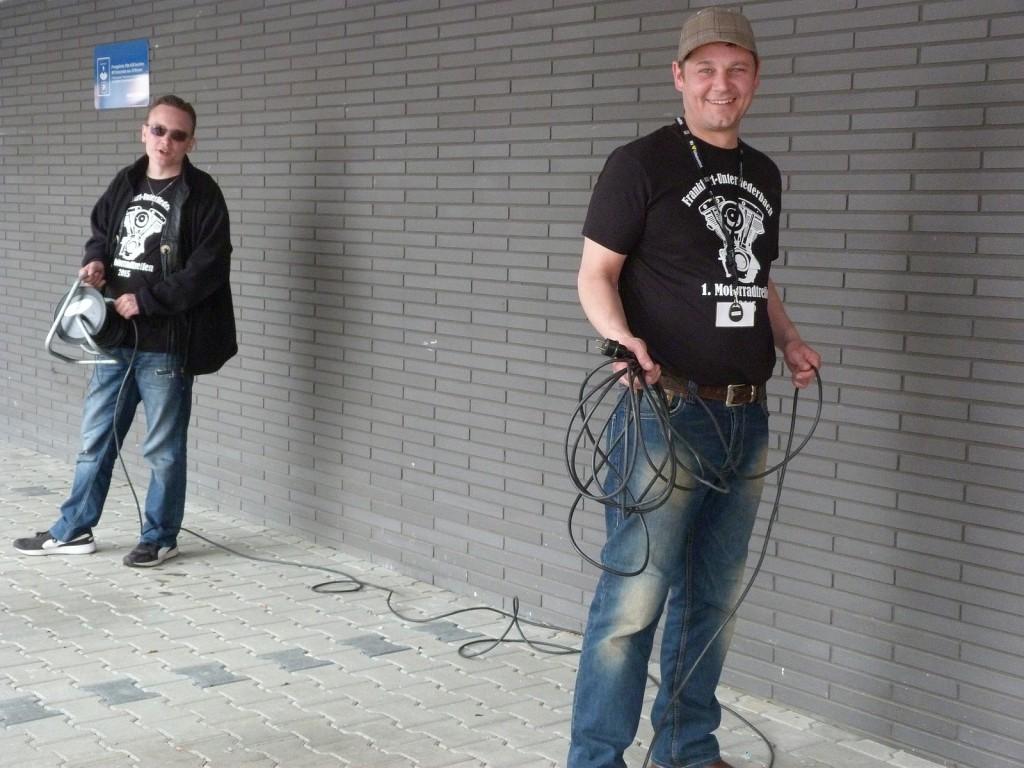 Eugen Lich und Markus Wolle, zwei Strippenzieher der Veranstaltung