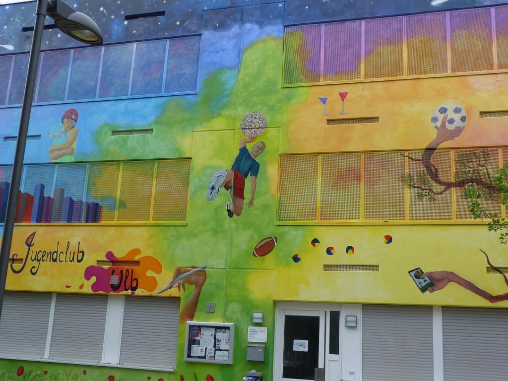 Jugendclub Unterliederbach, Fassade, Frankfurt am Main