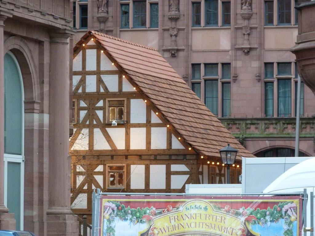 Fachwerkhäuschen auf dem Frankfurter Weihnachtsmarkt