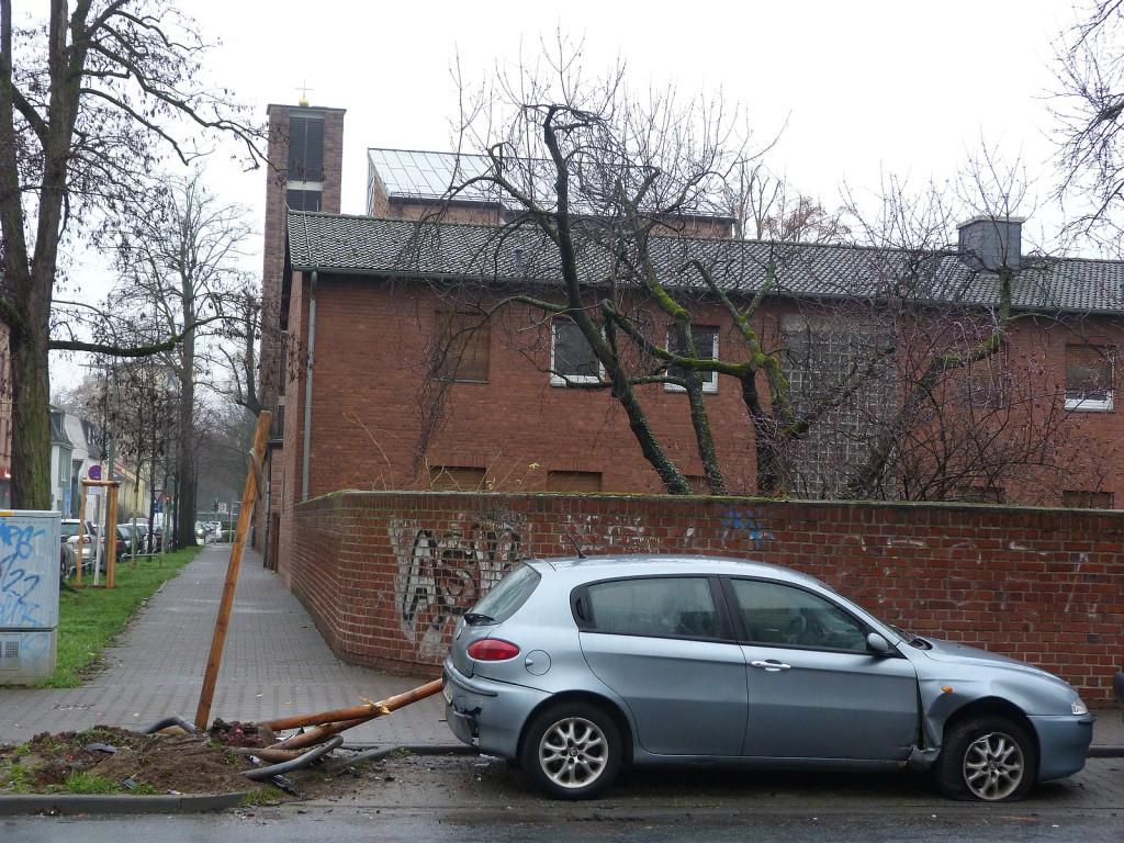 Unfallstelle Gotenstraße am Folgetag.