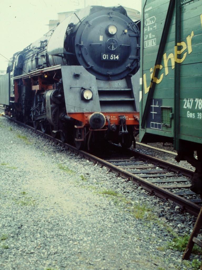 Dampflokomotive 01 514 1987 in Kelkheim (Taunus).