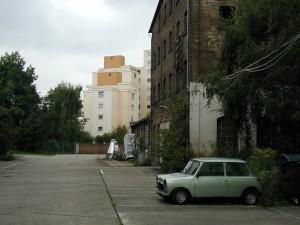 Gelände der ehemaligen Lederfabrik Graubner + Scholl in Frankfurt am Main Unterliederbach. (September 2000)