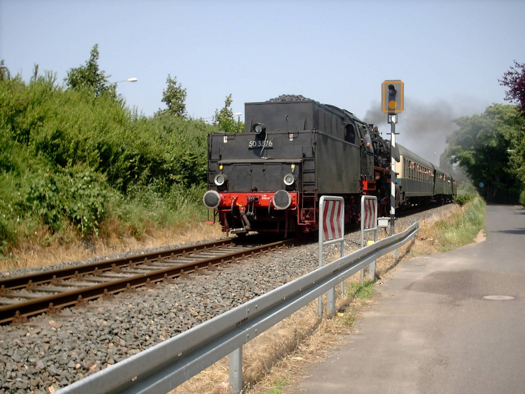 Dampflokomotive 50 3576 in Frankfurt am Main Unterliederbach