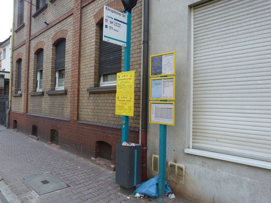 Haltestelle Königsteiner Straße in Frankfurt am Main Unterliederbach