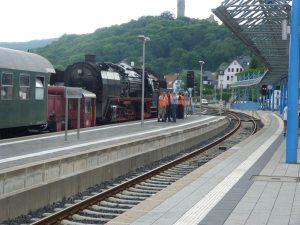 Vorbereitung zum Bahnhofsfest in Königstein