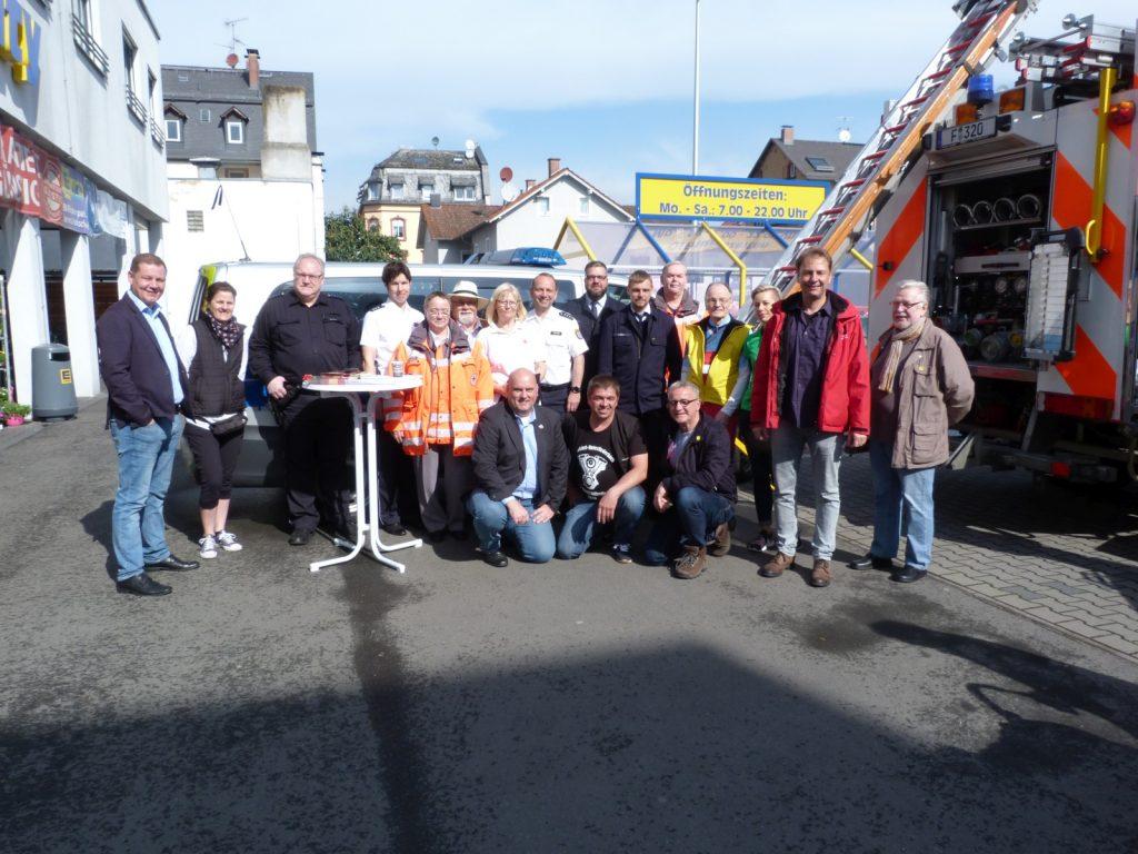 Gruppenfoto vom 5. Sicherheitsfrühstück in Unterliederbach