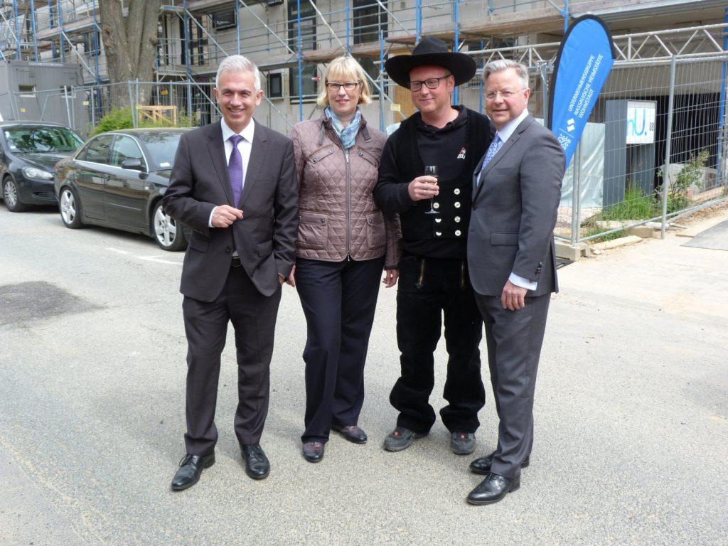 OB Peter Feldmann, Monika Fontaine-Kretschmer und Constantin Westphal