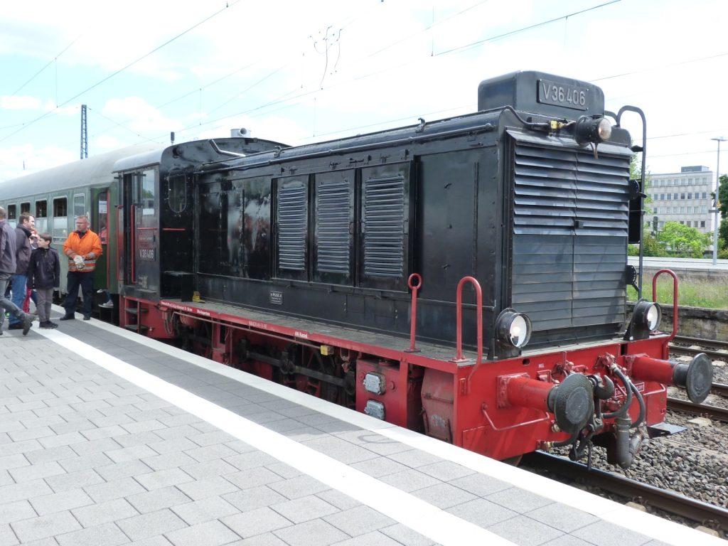 Diesellokomotive V36 406 der Historischen Eisenbahn Frankfurt