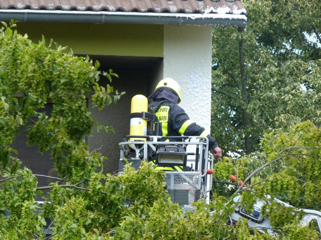 Feuerwehreinsatz in der Sieringstraße
