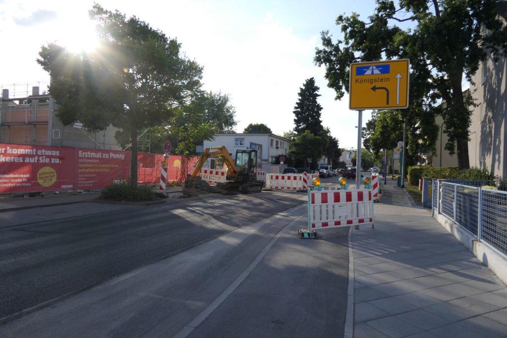 Baustelle Gotenstraße in Frankfurt am Main Unterliederbach