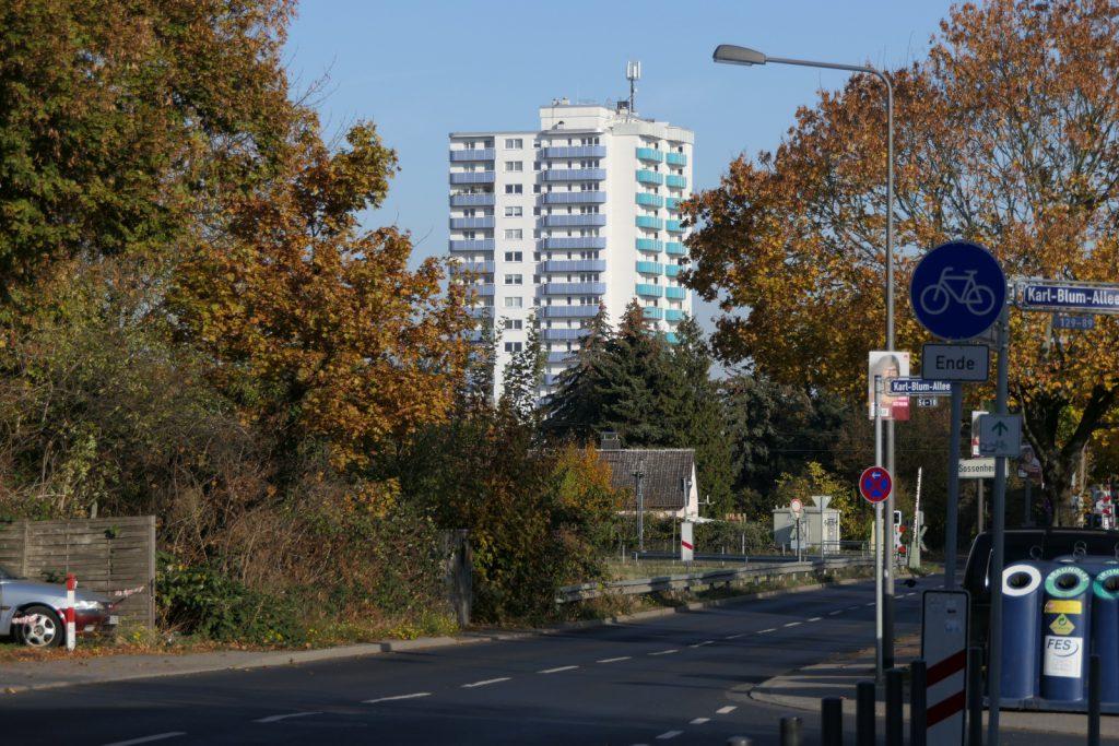 Hochhaus am Dunantring in Frankfurt am Main Sossenheim.