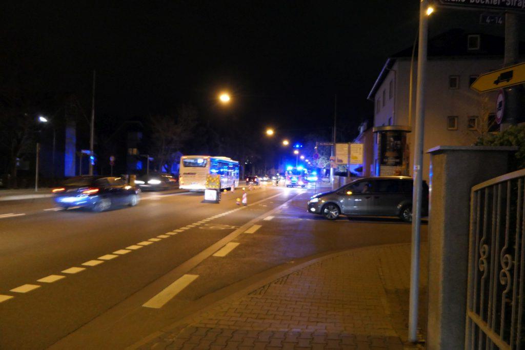 Teilsperrung auf der Königsteiner Straße in Frankfurt am Main Unterliederbach