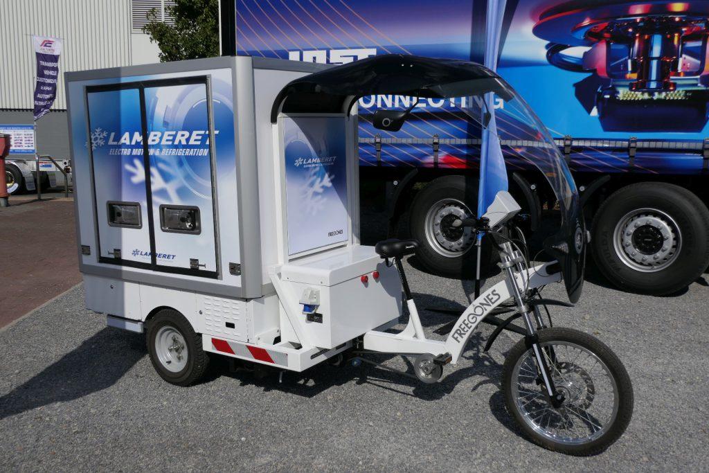 Pedelec (E-Fahrrad) mit Kühlaufbau