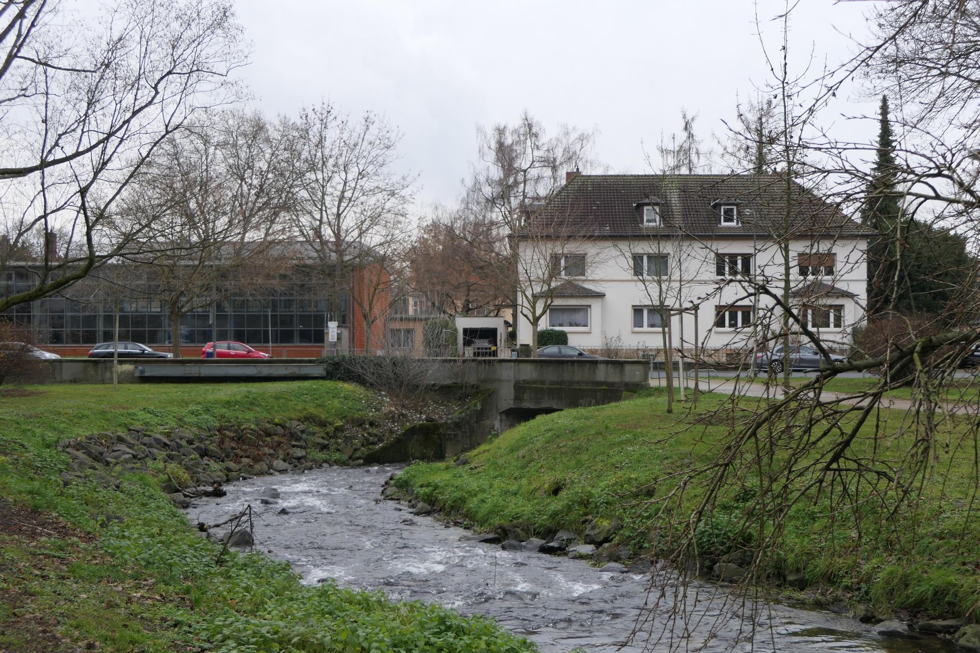 Der Liederbach in Frankfurt am Main Unterliederbach