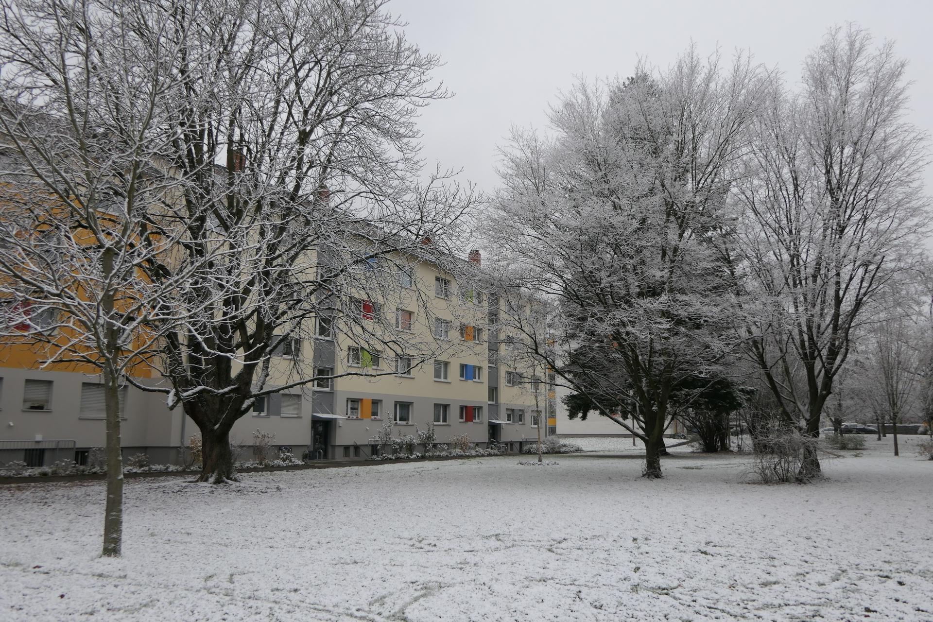 Industrieschnee in Frankfurt am Main Unterliederbach