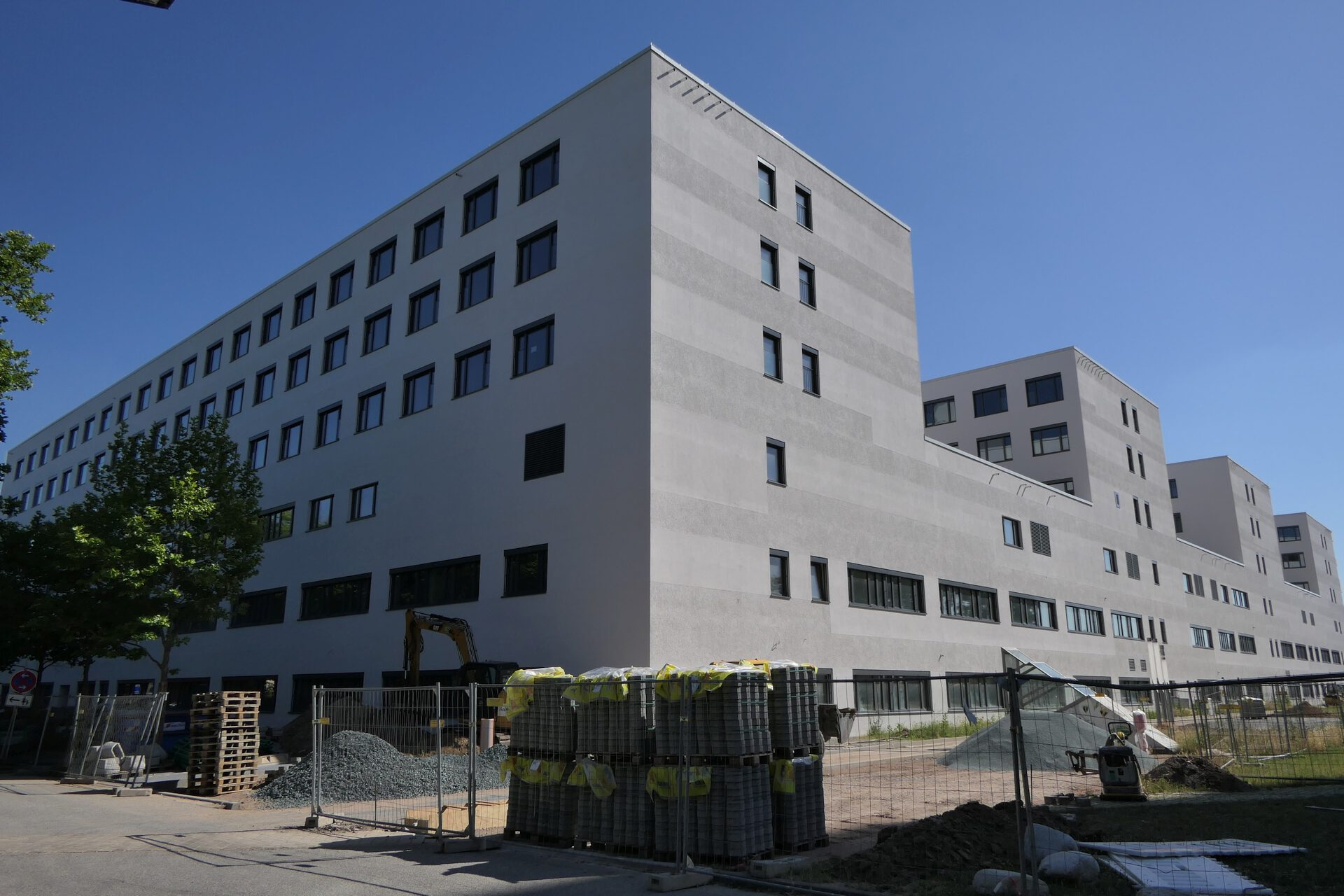 Neubau des Klinikums Höchst. Baustelle.
