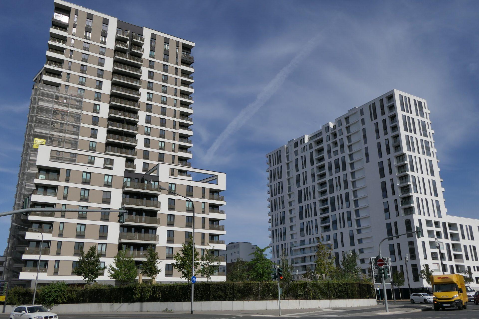 AXIS und Westend Tower im Europaviertel (Gallus) in Frankfurt am Main