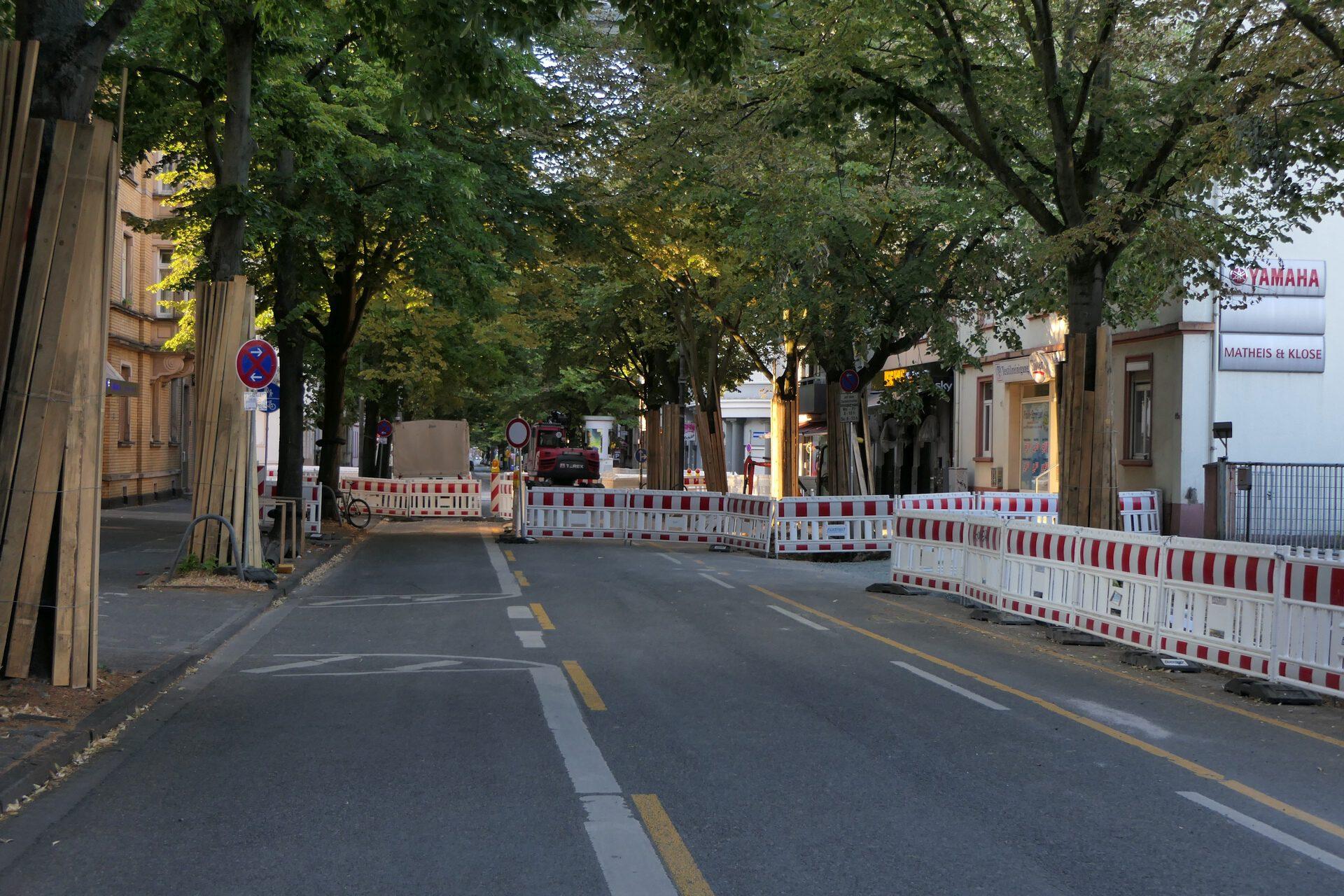 Königsteiner Straße, Frankfurt am Main Unterliederbach, Baustelle