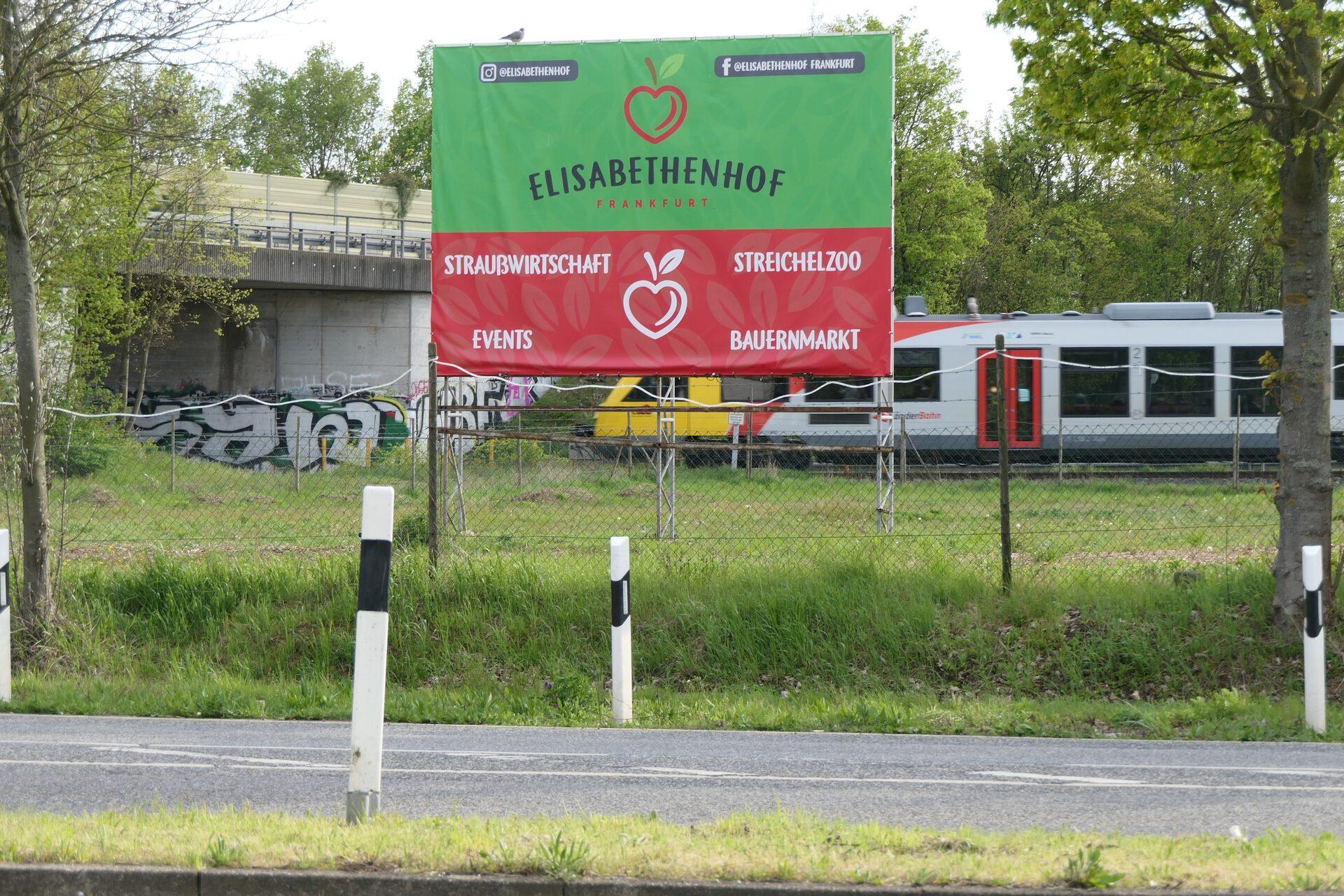 Werbetafel Elisabethenhof Frankfurt